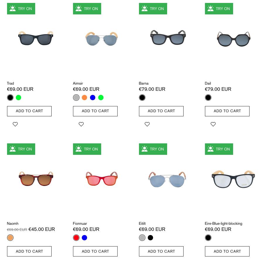 Crann Irish Sustainable Wood Sunglasses - Heart Shape Face